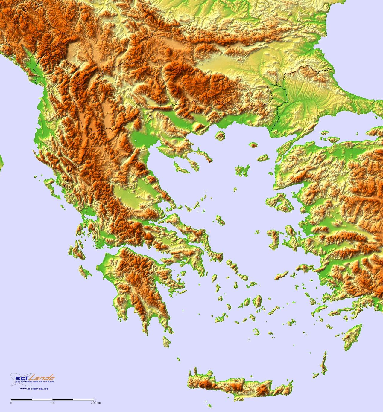 görögország domborzati térkép Görögország domborzati térkép   domborzati térkép, Görögország  görögország domborzati térkép